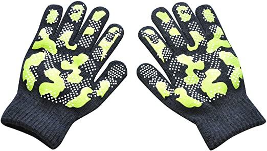2 x PAIRS OF BOYS GIRLS KIDS WARM THERMAL STRETCH MAGIC GRIPPER GLOVES CHILDRENS