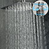 SR SUN RISE Luxury 12 Inch Large Square Stainless Steel Shower Head High Pressure Rainfall Showerhead Ultra Thin Water Saving Chrome Finish 2.5 Gpm