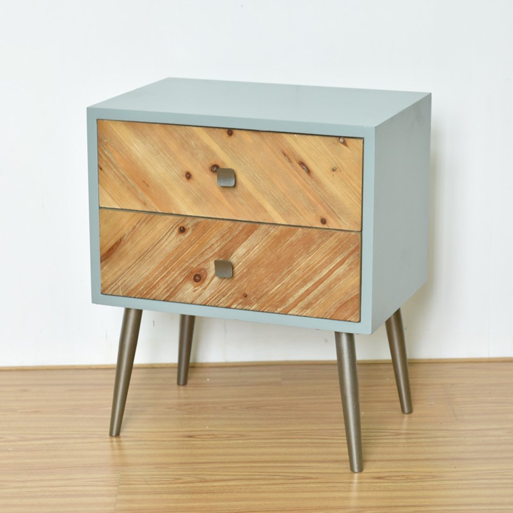Simple Solid wood bedstand [lockers] Wooden storage cabinet-B