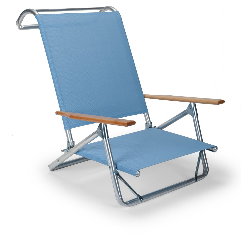 Telescope Casual Original Mini-Sun Chaise Folding Beach Arm Chair, Sky by Telescope Casual