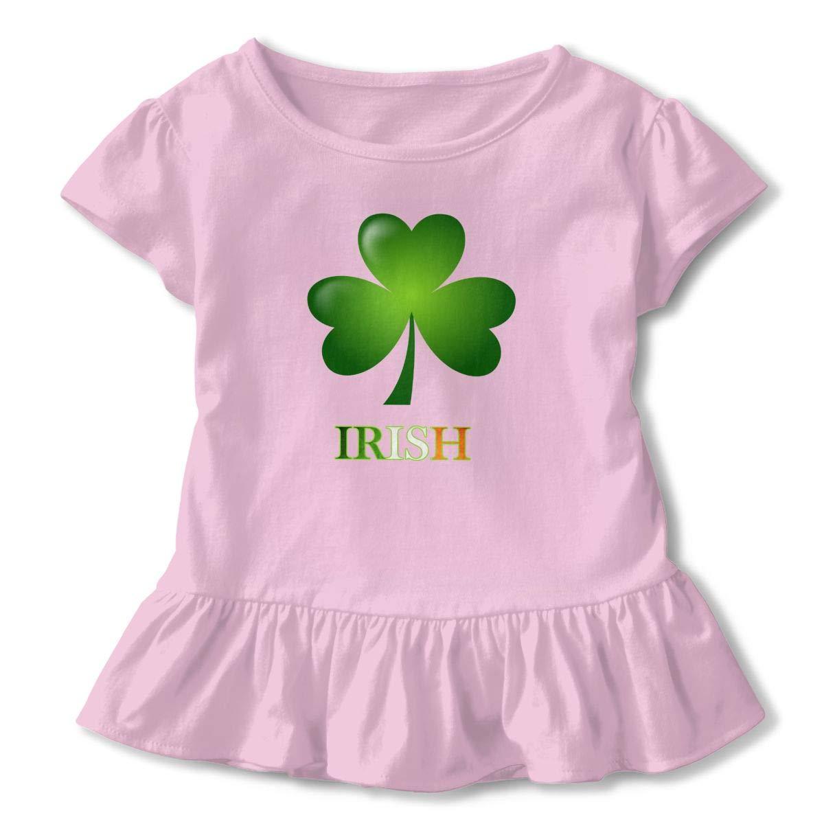 Benunit Luck of The Irish Baby Girls Summer Dress Outfits Ruffle Short T-Shirt Romper Dress,One-Piece Jumpsuit