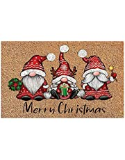 Christmas Gnome Dwarf Doormat Decorations, Merry Christmas Welcome Sign Rugs for Bedroom Home Christmas Decor Ornaments, Santa Claus Door Mat for Home, Entrance, Floor