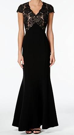 d8ef1278da13 Calvin Klein Women's Sequined Lace Mermaid Gown (8, Black): Amazon ...