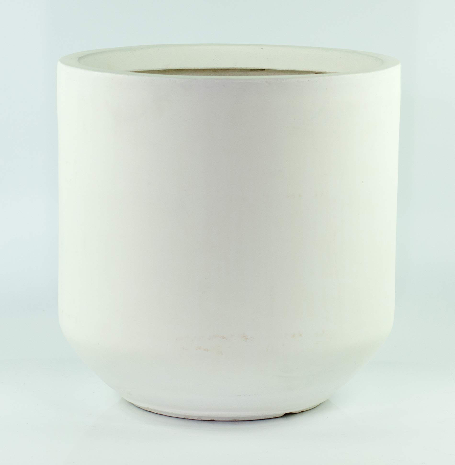 UPshining FXXL01 Fiber Clay White Extra Large 16'' Planter/Cylinder Pot/Mid