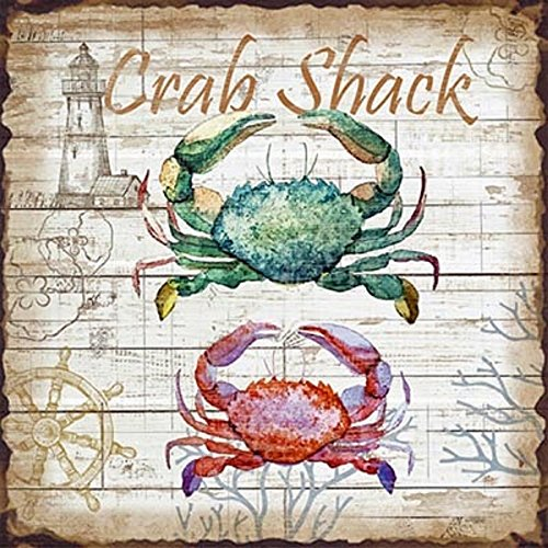Crab Shack Metal Sign | Nautical Theme Designs | 10