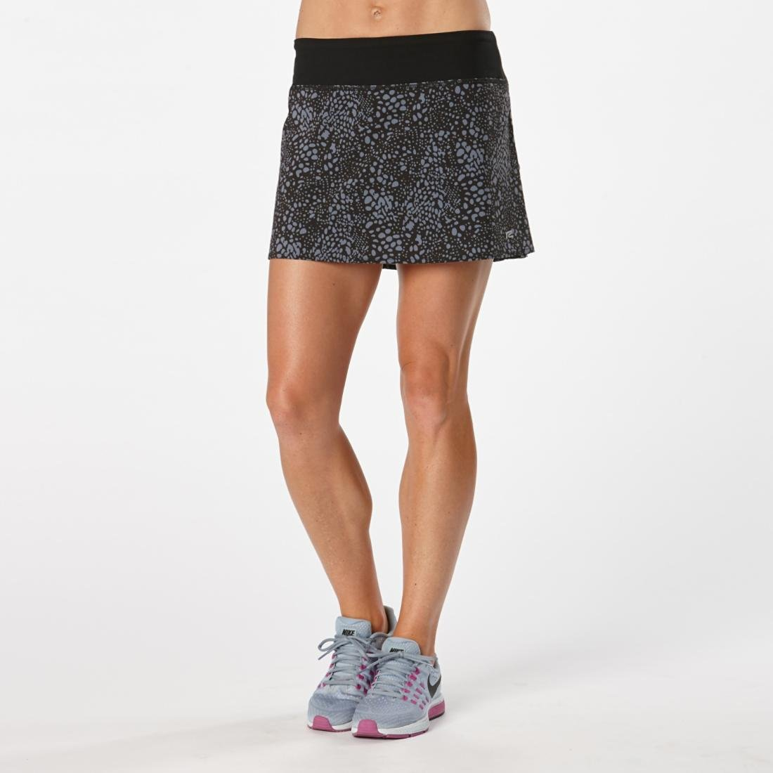 Women's R-Gear School 'em Printed Skort, Black/Grey Mist Dot, Large