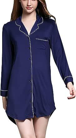 Dolamen Camisón para Mujer, Mujer Camisones Camisa de Dormir ...