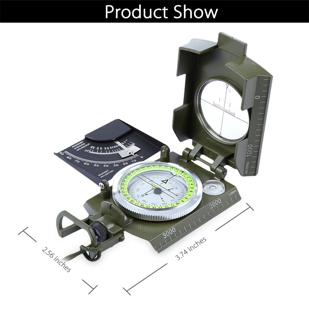 Amazon com : Military Multifunctional Compass, Outdoor Water