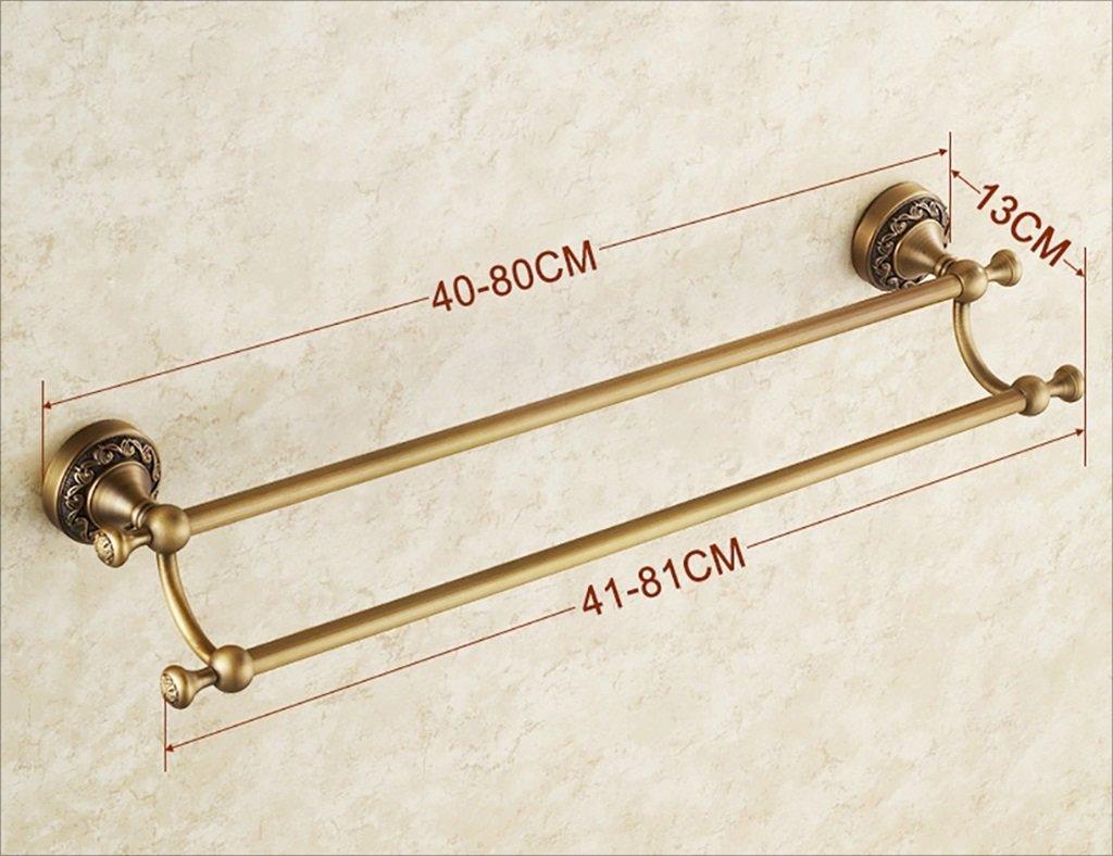 タオルラック/アンティークタオルラック完全な銅タオルバーダブルロッドヨーロッパのカーバー/ダブルロッドバスルームペンダント (サイズ さいず : 60 cm 60 cm) B07DHD7QH3 60 cm 60 cm 60 cm 60 cm