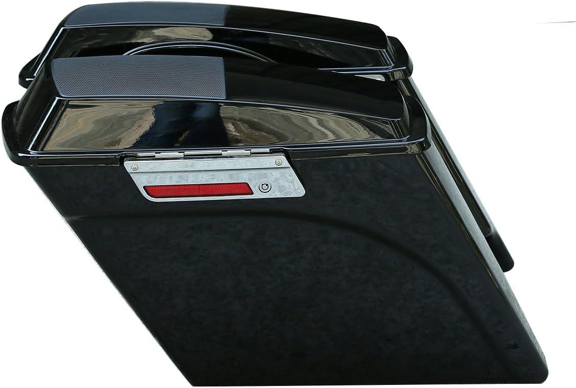 XFMT 5 Stretched Extended Saddlebags Speaker Lid Compatible with Harley Road Electra Glide FLT,FLHT,FLHTCU,FLHRC,Road King,Road Glide,Street Glide,Electra Glide,Ultra-Classic1993-2013