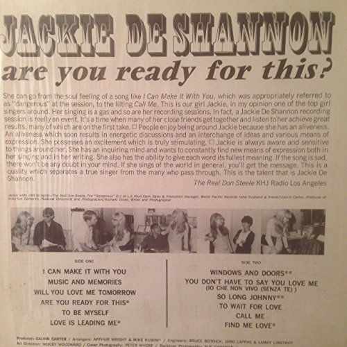 jackie de shannon - Jackie De Shannon - Are You Ready For This - Amazon.com Music