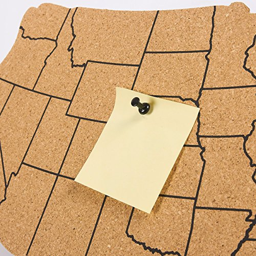 Juvale USA Map Cork Board - Wall-Mounted Hanging Bulletin Board - Perfect  Decor Home, Office, Schools, Restaurants - 17.7 x 11.2 x 0.03 inches