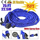 Dealcrox 75ft Expandable Hose Pipe Nozzle For Garden Wash Car Bike With Spray Gun And 7 Adjustable Modes ( 75FT & 22.5M )