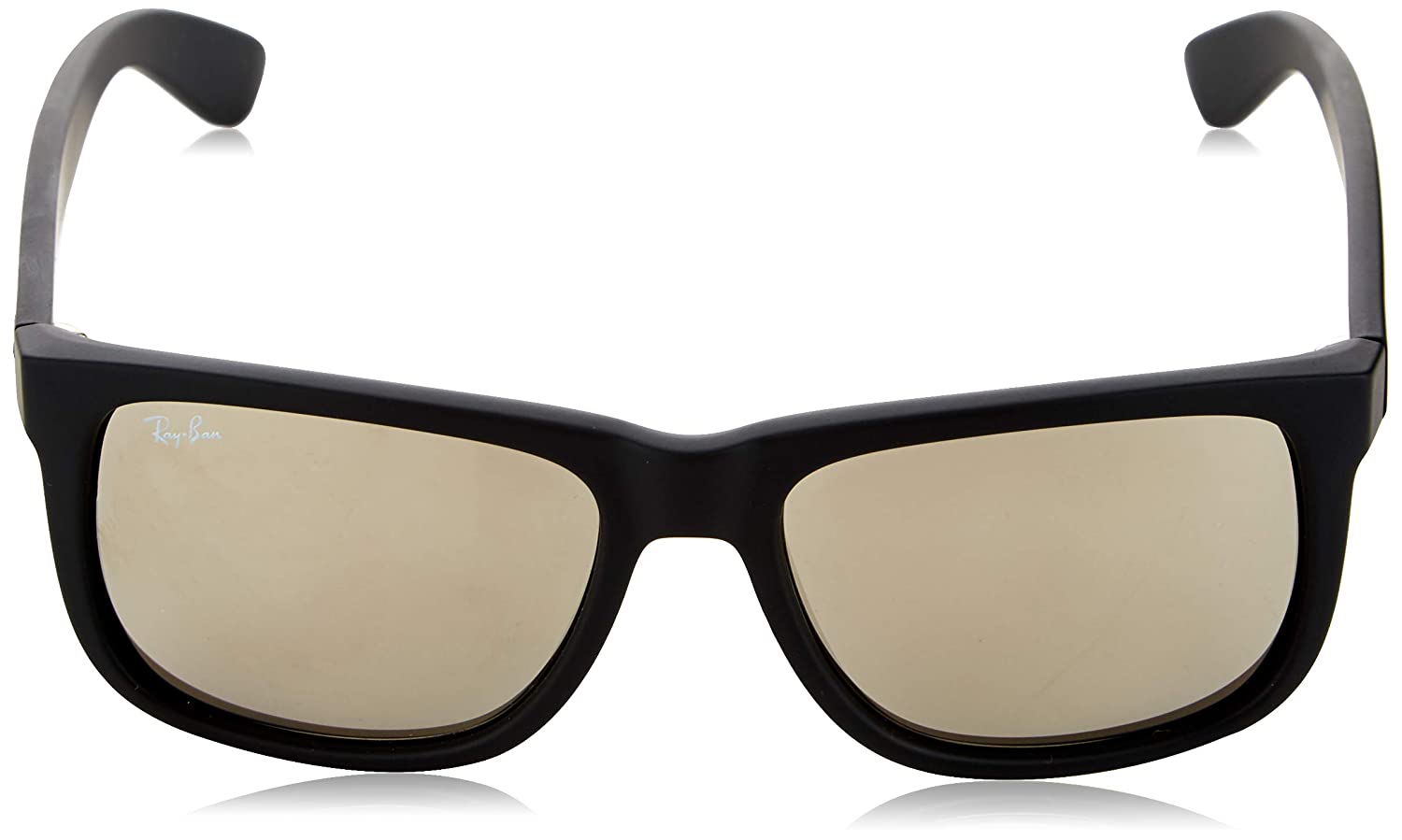 9e88acc8d Amazon.com: Ray-Ban Sunglasses - RB4165 Justin / Frame: Black Rubber Lens:  Gray Gradient (55mm): Clothing
