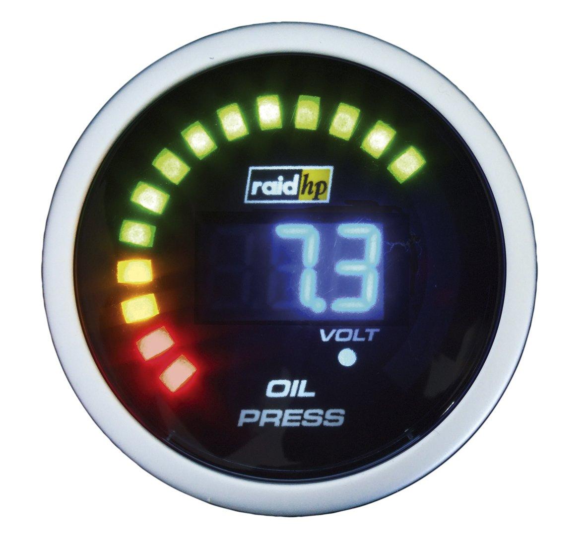 Raid hp 660501 Night Flight Digital - Indicador digital de presió n de aceite, color azul