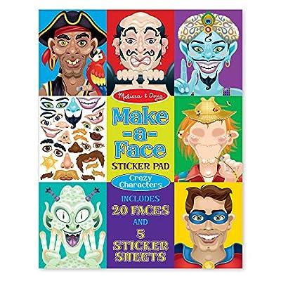Melissa & Doug Crazy Characters Make-a-Face Sticker Pad: Melissa & Doug: Toys & Games