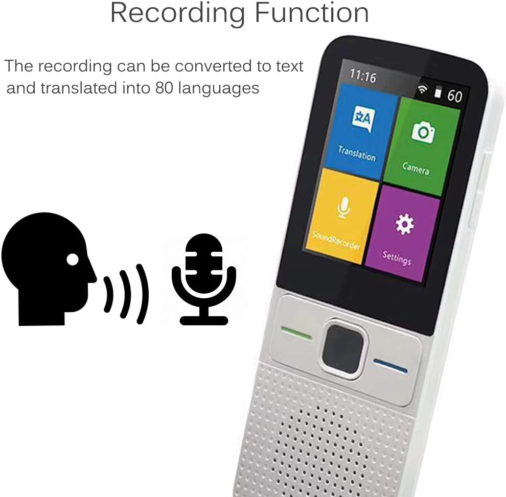iVOR Language Translator Device Voice/Photo/Recording Translation ...