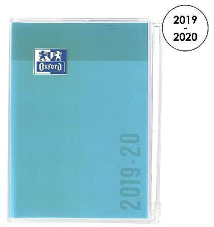Oxford Creation Zip Agenda Escolar (Años 2018 – 2019) 1 Día por Página 352 Páginas 12 x 18 cm Turquesa