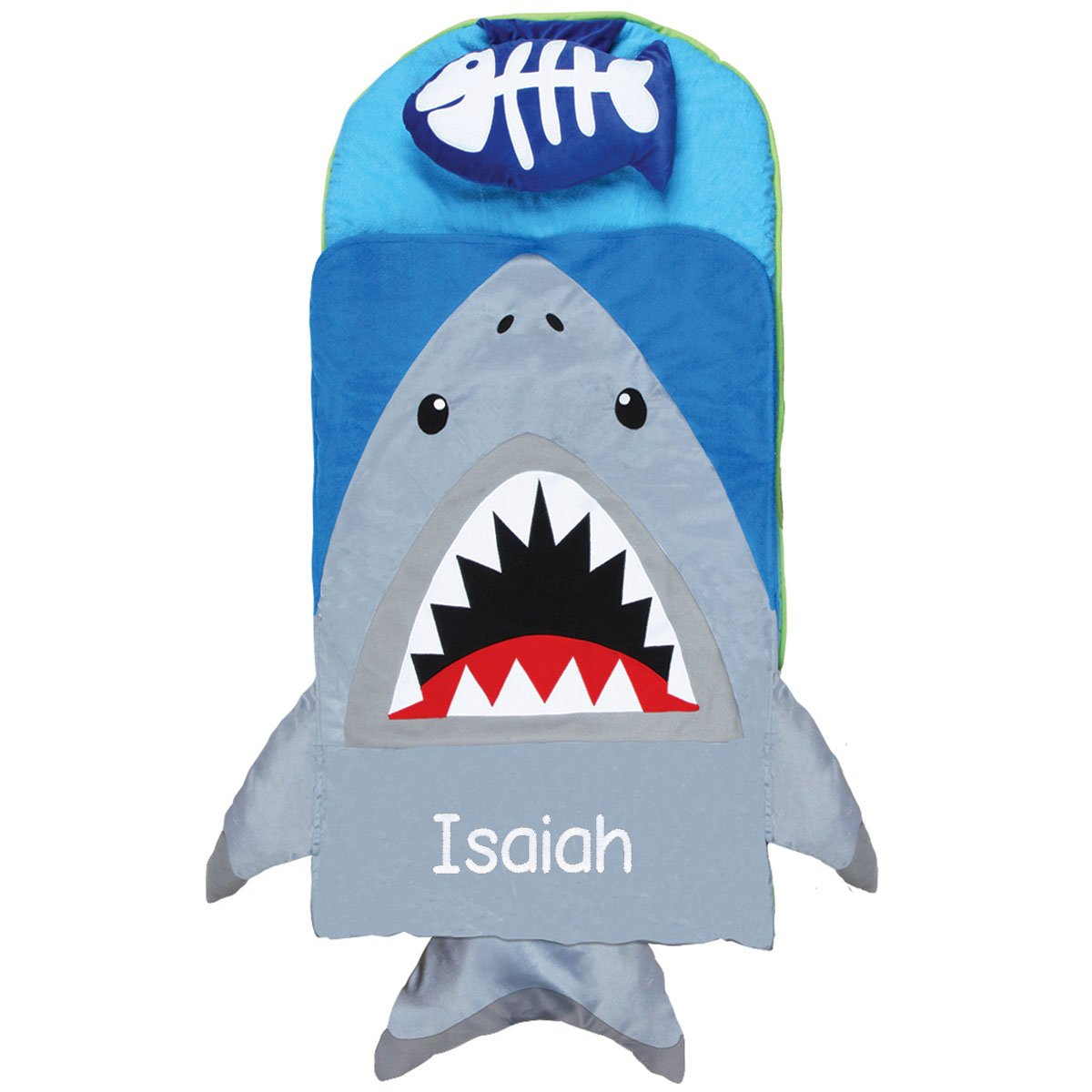 Personalized Stephen Joseph Shark Nap Mat with刺繍名前 B01K0SQUKA