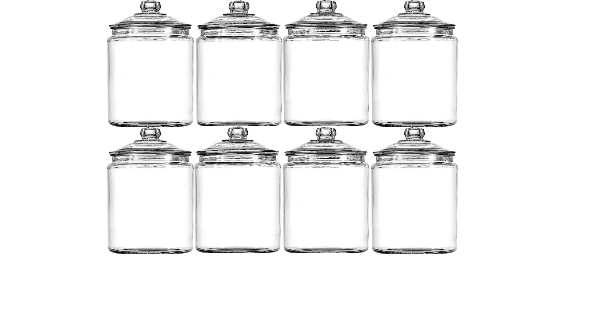 Anchor Hocking 1-Gallon Heritage Hill Jar Set of 8