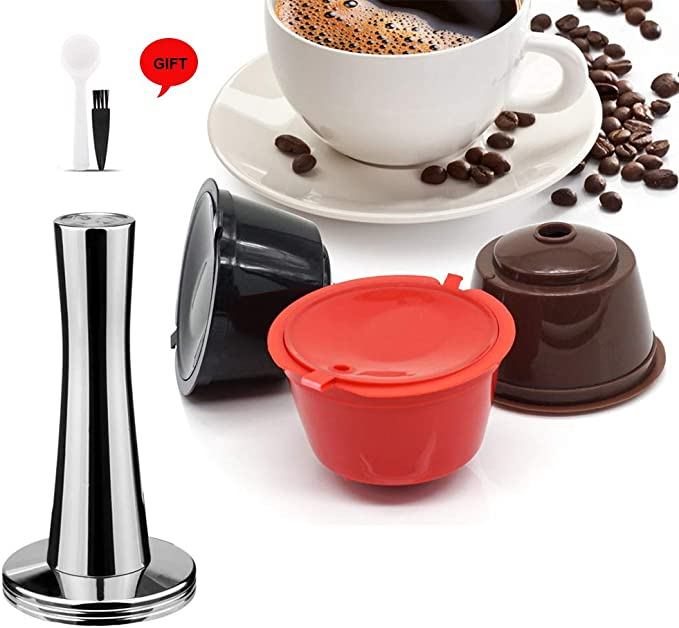 i Cafilas Dolce Gusto Refillable Capsules Reusable Coffee Pods Compatible for Nescafe Dolce Gusto Brewers (Mix color/3)