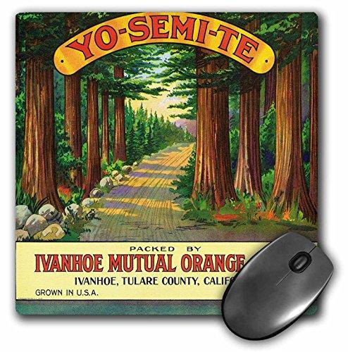 Yosemite Fruit (3dRose LLC 8 x 8 x 0.25 Inches Mouse Pad, Yosemite Ivanhoe Orange Association, Citrus Growers Yosemite (mp_171148_1))