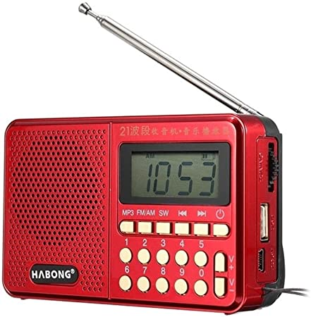 Radio portátil Lsmaa, M/Am/sw Teclas numéricas de 21 Bandas ...