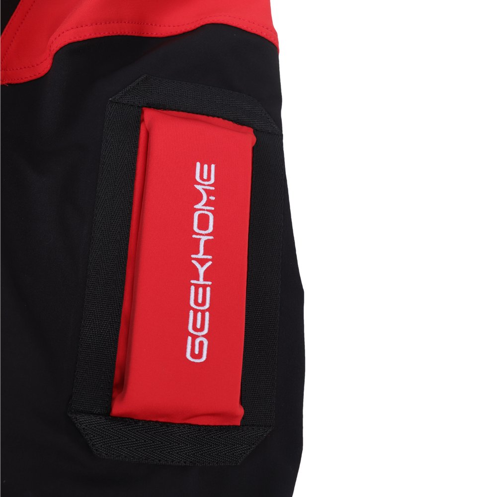 ca8f78a12bfd GEEK HOME Unisex Skydiving Free Fly Suit Skydive Jumpsuit Black Red Size  3XL  Amazon.co.uk  Sports   Outdoors
