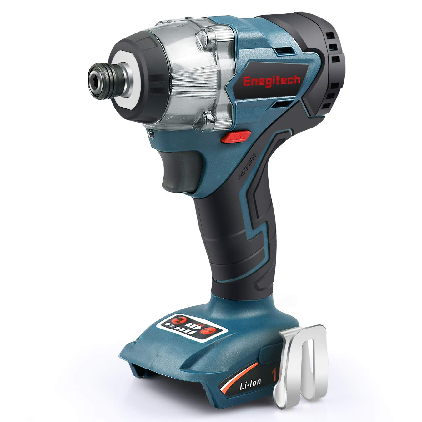 Enegitech 18V Cordless Impact Driver ¼'' Brushless Motor 4-Speed 2700 RPM Electric Power Tool for Furniture, Work with Makita 18V LXT Battery(Tool Only)