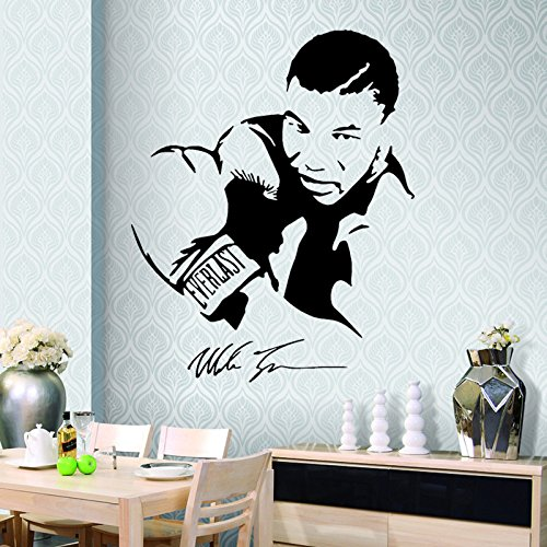 Fangeplus(TM) Mike Tyson Boxer DIY Removable Art Mural Vinyl Waterproof Wall Stickers Kids Room Decor Living Room Decal Sticker Wallpaper (Mike Tyson Boxer)