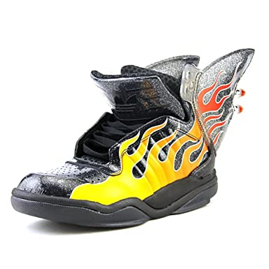Image Unavailable. Image not available for. Color  Adidas Jeremy Scott  Shark Flame Men US 6 Black Sneakers c78831ccb