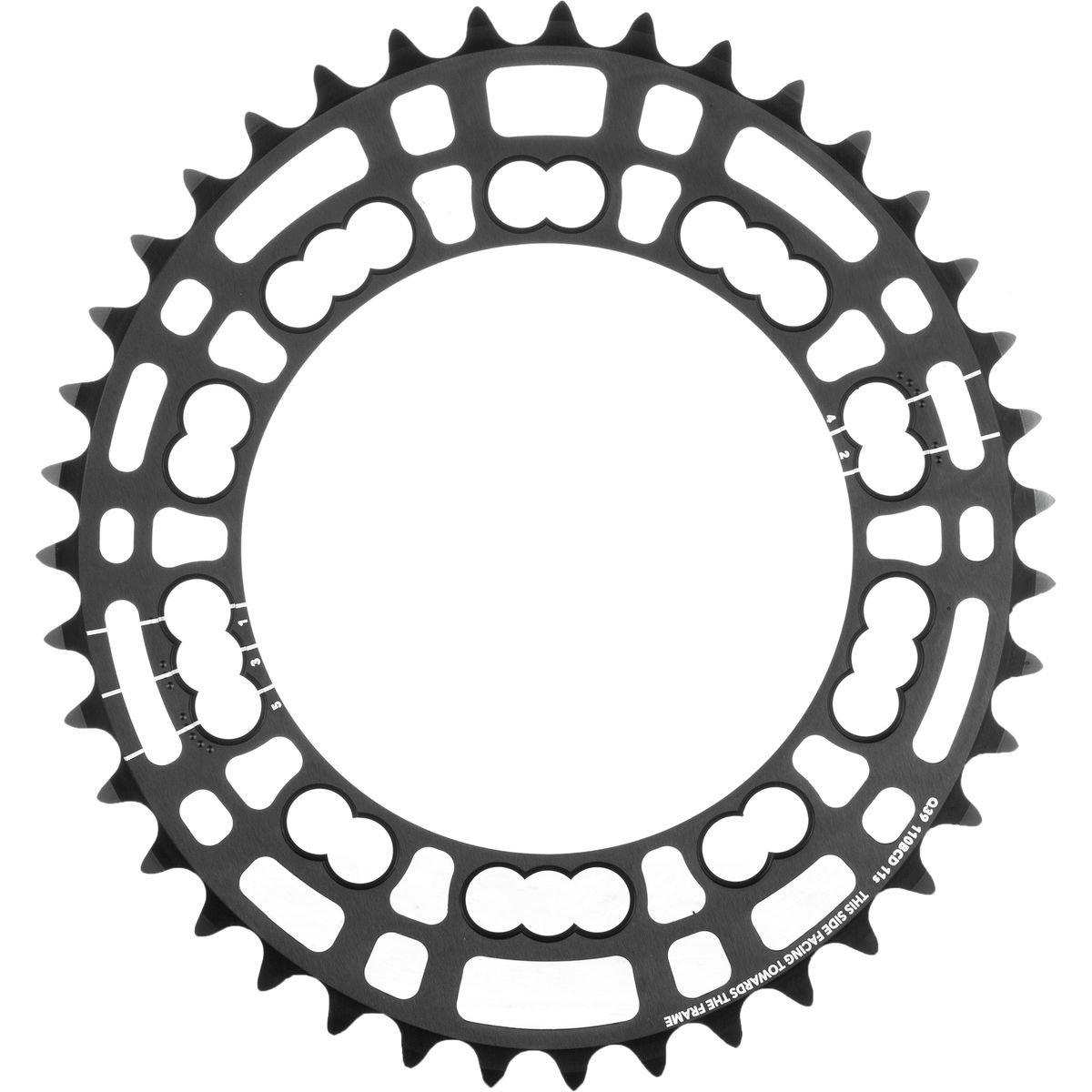 Rotor Q-Ring Road Kettenblatt 110mm 5-Arm innen schwarz Ausführung 39 Zähne 2018 Kettenblätter