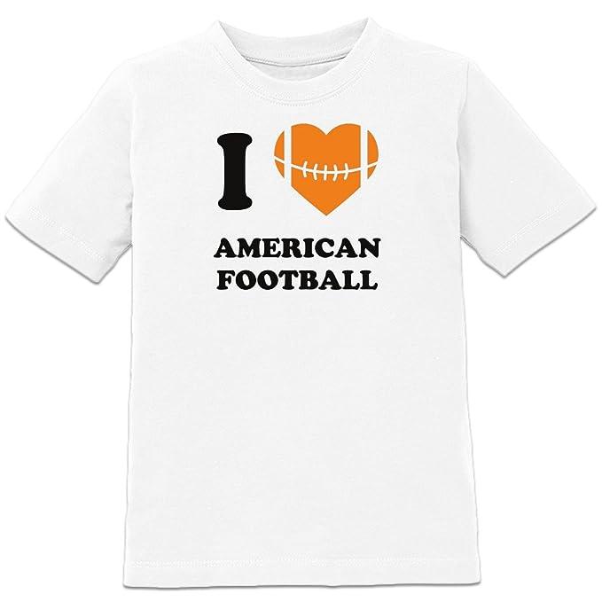 Shirtcity yo corazón fútbol americano – Camiseta de manga corta para niño