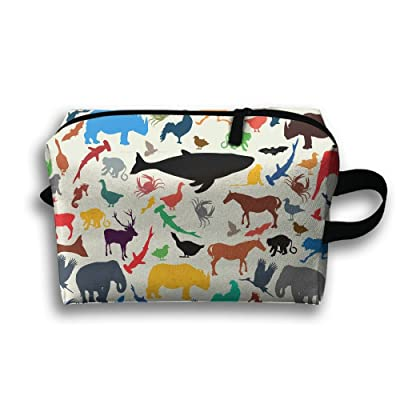 SO27Tracvel Shark Zoo Pattern Toiletry Bag Dopp Kit Tactical Bag Accessories Travel Case