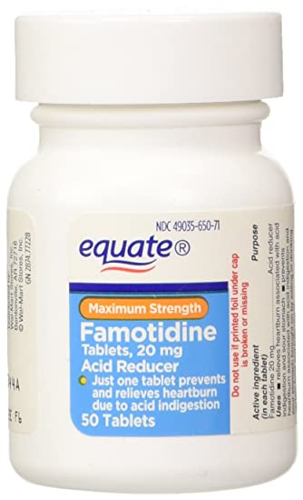 amazon com equate acid reducer maximum strength famotidine 20