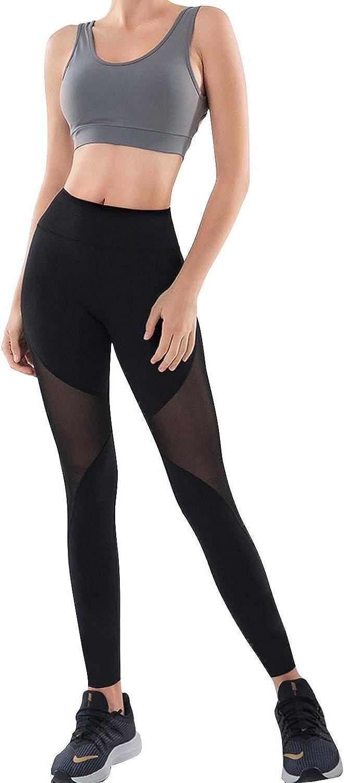 GoVIA Legging pour Femme Pantalon de Course /à Pied Pantalon de Sport Respirant Pantalon de Yoga Fitness Taille Haute Long Rayures 4106