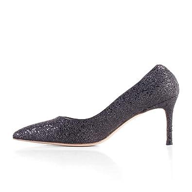 6646de1ad4 Amazon.com | Hush Gecko [2.5 inches 6.5 cm Heel Height Customized 2 ...