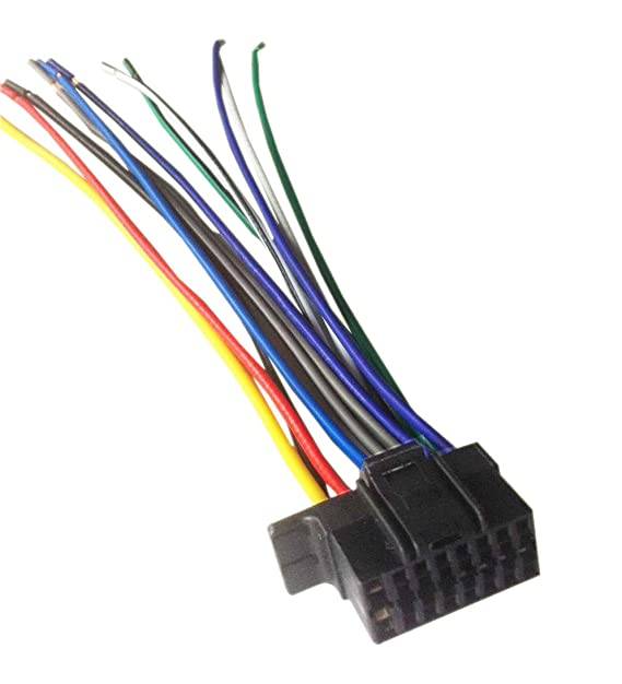 amazon com: 16 pin auto stereo wiring harness plug for sony mex-n5000bt:  everything else