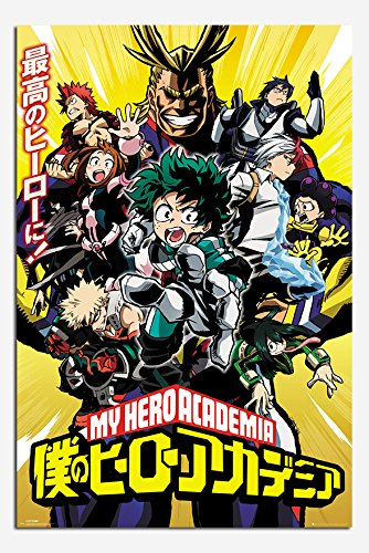 My Hero Academia Season 1 Manga Poster Gloss Laminated - 91.