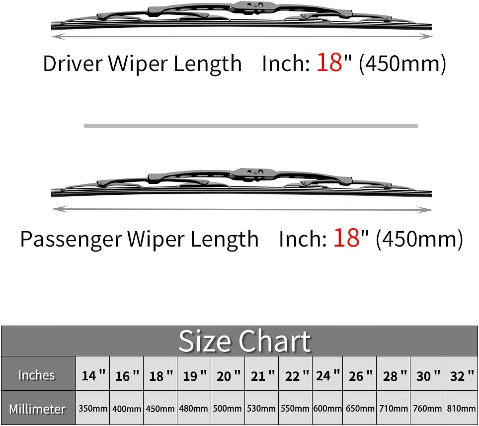 FRD-RANGER Windscreen Wiper Blades x 2 Front Set Fits To REG 2011 TO 2016