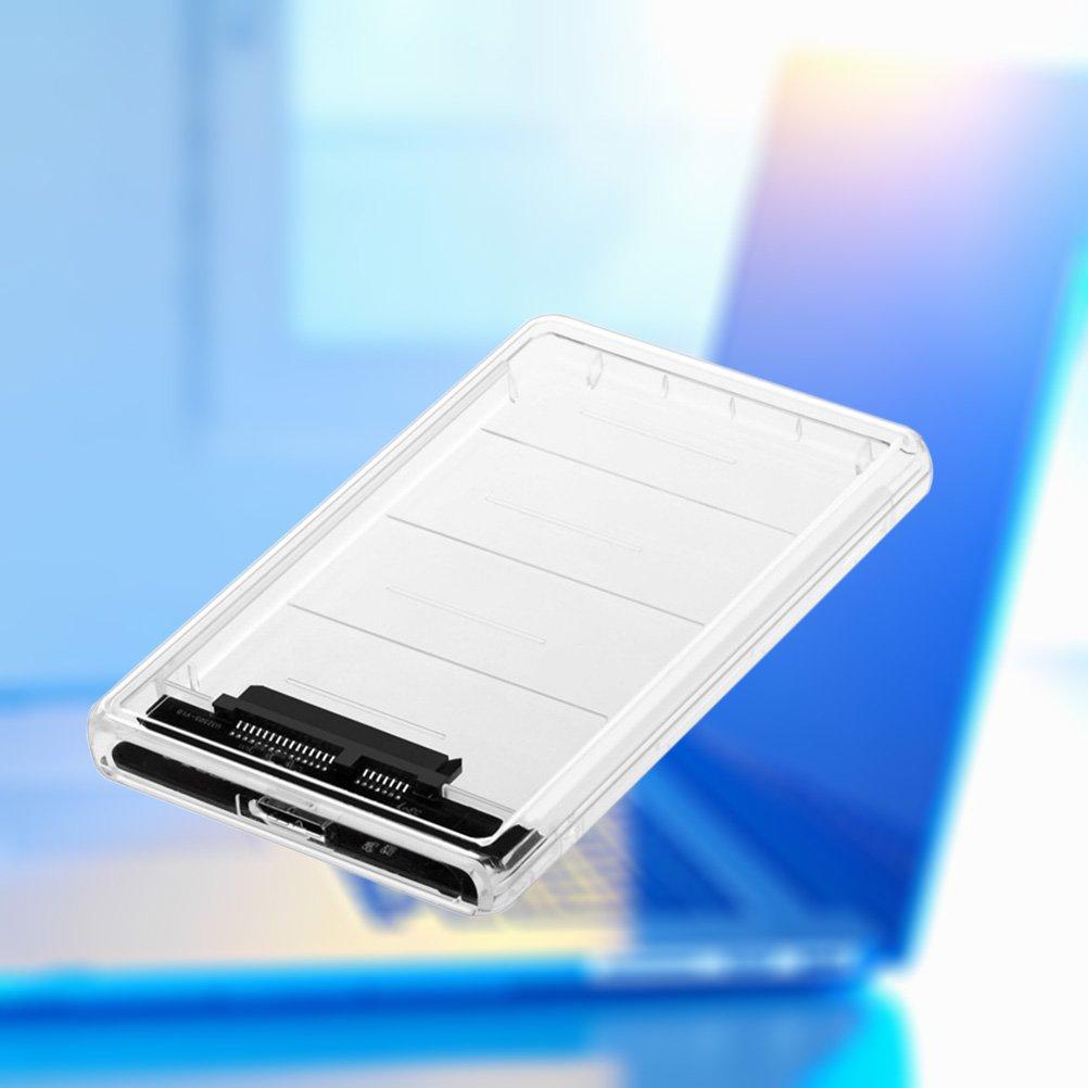 LEDMOMO USB 3.0 Tool-Free externes Festplattengeh/äuse Transparentes externes Geh/äuse f/ür 2,5 Zoll SATA HDD und SSD