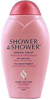 Shower To Shower Original Body Powder, 8 Ounces (1 Pack)
