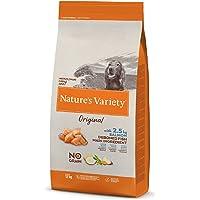 Nature's Variety Original No Grain - Pienso para perros junior con salmón sin espinas, 12 kg
