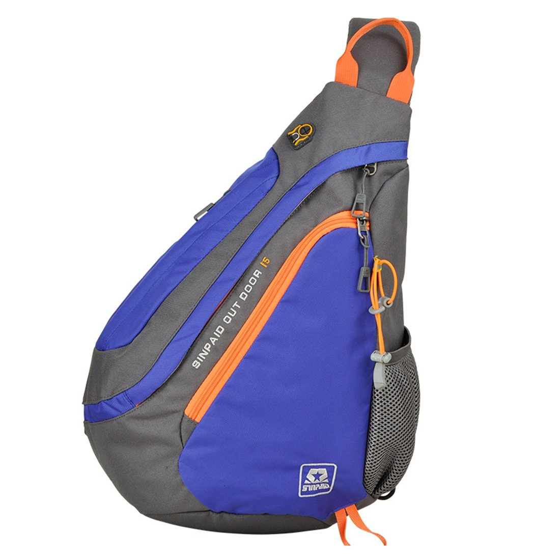 hot sale Sinpaid Dacron Chest Bag Crossbody Sling Bag Outdoor Sport Riding Chest Bag for Men Waterproof Anti-Splshing Bag 3Layer Hiking Cycling Bag Shoulder Bag