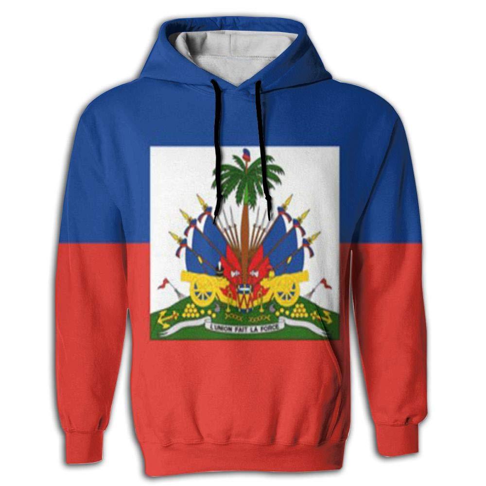 CHAN03 Unisex Realistic 3D Print Hoodie Hooded Sweatshirts Haiti Flag