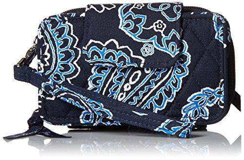Vera Bradley Smartphone Wristlet 2.0 Wallet, Blue Bandana, One Size