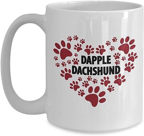 Dapple Dachshund Mug Dapple Dachshund I Love Wiener Dog Dad Mom Mug For Daschund Owner 15 Oz Kitchen Dining