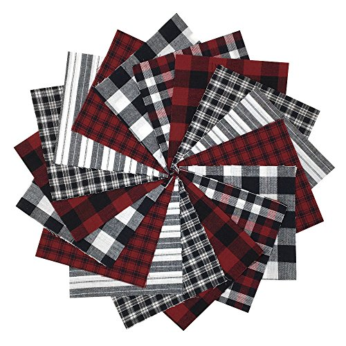40 Buffalo Lodge Charm Pack, 6 inch Precut Cotton Homespun Fabric Squares by JCS