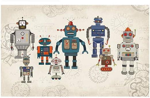 Ytdzsw Matemáticas Robots Murales 3D Personalizados Murales De ...