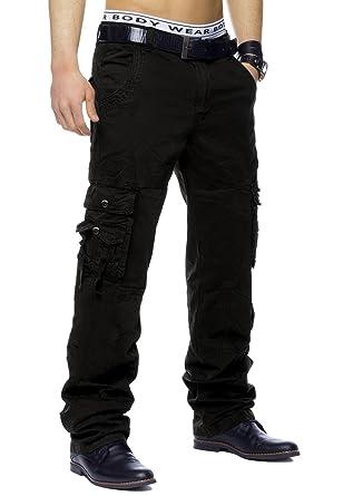 Herren Cargo Hose Jeans Freizeithose, Größe Hosen S, Farben Schwarz ... 797b058ff7
